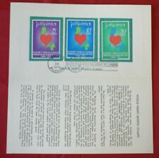 Mayfairstamps Philippines 1972 World Heart Month Souvenir Folder FDC First Day C