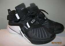 best loved 87b6f 6484f Nike LeBron James Soldier Zoom Men s Basketball Shoes Black White Size 9