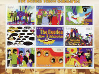 Eritrea 2003 MNH The Beatles Yellow Submarine 9v M/S II Music Celebrities Stamps