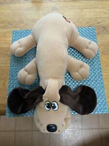 VINTAGE 1985 POUND PUPPIES TONKA LARGE TAN DOG PLUSH PUPPY TOY 18 INCH STUFFED