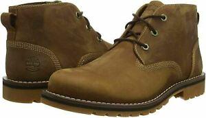 Timberland Mens Larchmont II Waterproof Chukka Boots in Rust Full Grain, Size 11