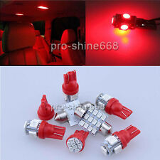 SMD LED Interior 9PCS Lights Plate Map Package for Ford Mustang 2010 2014 Red