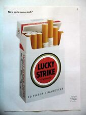 PUBLICITE-ADVERTISING :  LUCKY STRIKE new pack  1990 Cigarettes