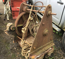 More details for antique large heavy slipway winch with david brown & sons reduction gearbox
