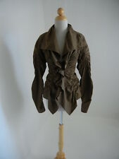Donna Karan (It38/US4 runs-small) Brown Ruched/Moldable Curvy Amazing Top Blouse