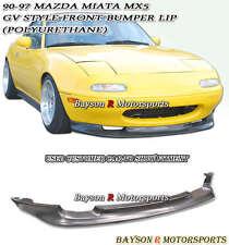 GV-Style Front Lip (Urethane) Fits 90-97 Mazda Miata