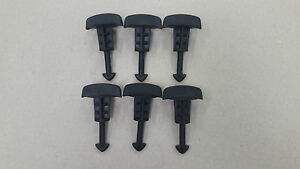 6 X PEUGEOT 206 307 GTI 180 ENGINE COVER CLIPS C4 VTS 180 BHP TOP FIXINGS SCREWS