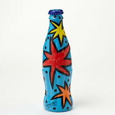 Romero Britto Coke Coca- Cola Bottle Blue Cap Figurine  New with tag