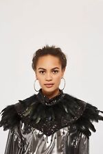 TOPSHOP ROSALIA FEATHER SEQUIN EMBELLISHED BEADED COLLAR CAPE BNWT