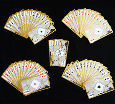Waterproof Transparent PVC Poker Gold Edge Playing Cards Dragon Card Novelty PL