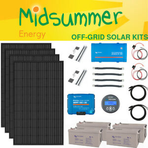 1kW Complete Off-grid Solar Charger Kit - 315W PV, AGM, AC 230V, Victron Energy