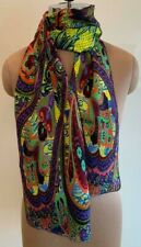 Brand New Gorgeous Large Spring/Summer Paisley 100% Pure Silk Scarf/Stole