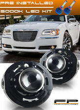 LED + 2011-2014 Chrysler 300 Clear Replacement Fog Lights Housing Assembly Pair