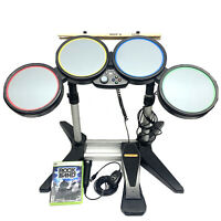 Harmonix Rock Band Drum Set Xbox 360 With Pedal, Sticks, Microphone And Game