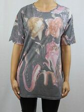 Topshop Floral Crew Neck Short Sleeve T-Shirts for Women