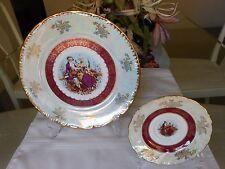 Tiger Yedi Inc Japan Style & Czech Rep Design Victorian Couple Porcelain Plates