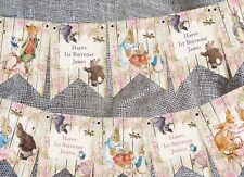 3m Personalised Beatrix Potter Peter Rabbit & Friends Bunting - Any Occasion