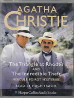 Triangle at Rhodes Incredible Theft Agatha Christie 2 Cassette Audio Book Poirot
