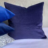 "Modern Cushion Cover 18"" John Lewis Cotton Velvet , Oxford Blue Contemporary"