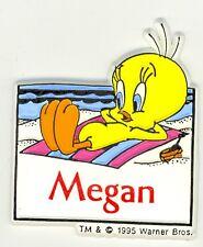 Tweety Bird Name Magnet ~ Megan ~ Looney Tunes Collectible~ Stocking Stuffer