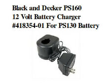 Black and Decker PS160 12 Volt Battery Charger #418354-01 For PS130 Battery
