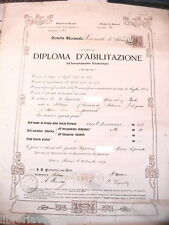 Diploma in elementary teaching qualification all Salerno 1905 ordinary school