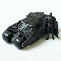 The Dark Knight BATMAN BATMOBILE Tumbler BLACK CAR Vehecle Toys With Figure