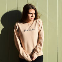 TUMBLR Foodie Hot Chocolate Drinks fashion Marshmallow Embroidered Sweatshirt