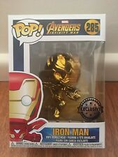 FUNKO POP VINYL INFINITY WAR IRON MAN 285 CHROME **EXCLUSIVE** BNIB (RARE)