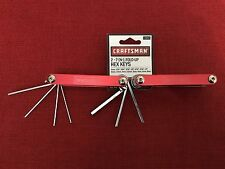Craftsman (2) 7 in 1 Fold-Up Hex Key Set, Red, Standard & Metric, NEW