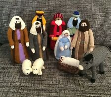 Hand Knitted Nativity Set Novelty Decoration