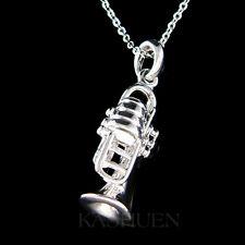 3D Bach king Brass BB TRUMPET Cornet Flugelhorn Musical Charm Necklace Jewelry