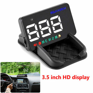 """3.5"""" A5 Auto GPS HUD Head-up Display Car Alarm Detector Real Time Speedometer"""