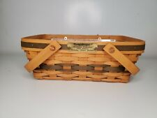 Vintage Longaberger 1996 Christmas Collection Holiday Cheer Basket, Protector