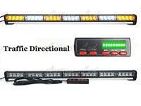 """31"""" Inch 28W LED Traffic Adviser Emergency Warning Strobe Light Bar Amber White"""