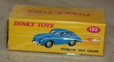 dinky toys / Porsche 356A coupé ( ref 182)   éditions Atlas (neuve en boite)