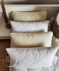 Four Merino Wool Pillows zipped cover