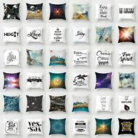 18'' Polyester Art Sofa Letter Pillow Case Waist Throw Cushion Cover Home Decor
