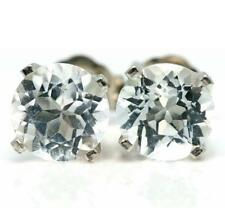 Topaz White Gold 14k Fine Earrings