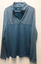 Under Armour UA Golf Outerwear Pullover Half Zip Blue Loose LG Large