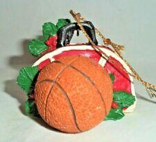 Vtg 1990 Kurt S Adler Red Gym Bag w/ Basketball Christmas Tree Ornament