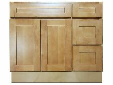 36-inch Vanity Cabinet with Right Drawers Elegant Maple