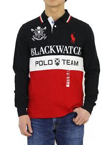 Polo Ralph Lauren LS Long Sleeve Custom Fit Blackwatch Big Pony Polo Shirt