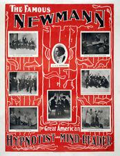"The Famous Newmann - Hypnotist Vintage Poster Art Print 8.5"" x 11"" Reprint"