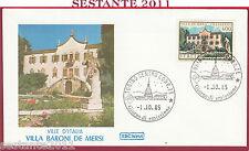 ITALIA FDC ROMA VILLE D'ITALIA VILLA DE MERSI VILLAZZANO TN 1985 TORINO Y911