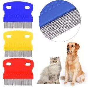 Pet Cat Dog Metal Teeth Comb Grooming Brush Dematting Fur Hair Removal Clean UK