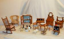 Antique Wooden Doll Furniture With Accessories