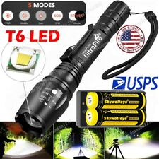 Tactical Police 35000Lumens 5-Mode T6 LED Flashlight Zoomable Focus Torch Light