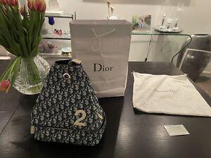 RARE - Authentic Christian Dior Vintage Trotter Blue Monogram Shoulder/ Bag 🌺