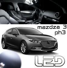 Mazda 3 BM Kit 7 ampoules Blanc LED éclairage Plafonnier pare soleil Coffre
